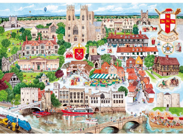 York, 1,000 piece jigsaw puzzle by Gibsons.